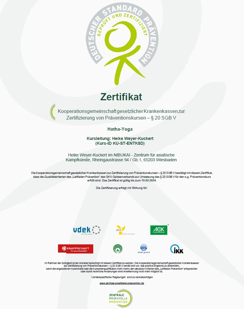 Zertifikat-Hatha-Yoga